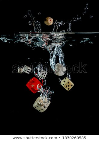 Dice · воды · желтый · пузырьки - Сток-фото © SecretSilent