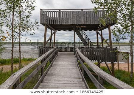озеро Финляндия небе воды древесины Сток-фото © tainasohlman