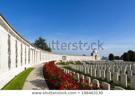 tyne cot cemetery in ypres stock photo © chrisdorney