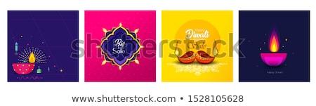 stylish diwali diya colorful festival decorative design vector stock photo © bharat
