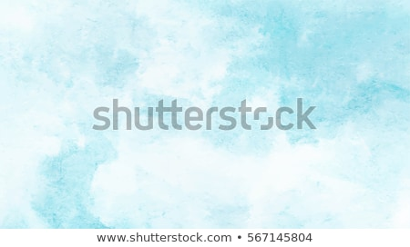 Stock photo: blue hand painted abstract watercolor background