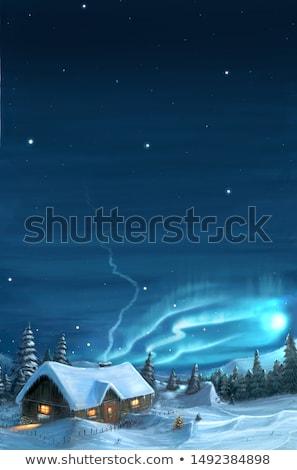snowy cottage stock photo © derocz