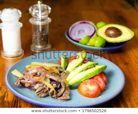бифштекс · мексиканских · стиль · сушат · помидоров · продовольствие - Сток-фото © hanusst