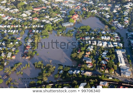 Flooded Brisbane Street stock photo © silkenphotography
