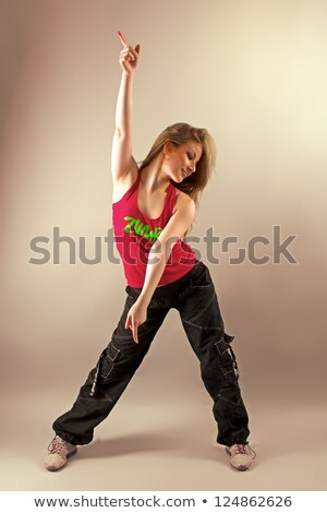 beautiful woman enjoying zumba fitness stock photo © andreypopov