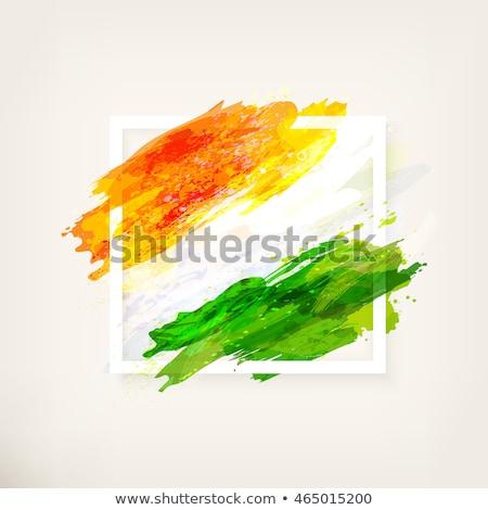 Cumhuriyet gün Hint vektör üç renkli bayrak Stok fotoğraf © bharat