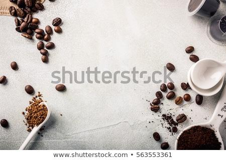 растворимый кофе Гранж кофе текстуры Сток-фото © vichie81