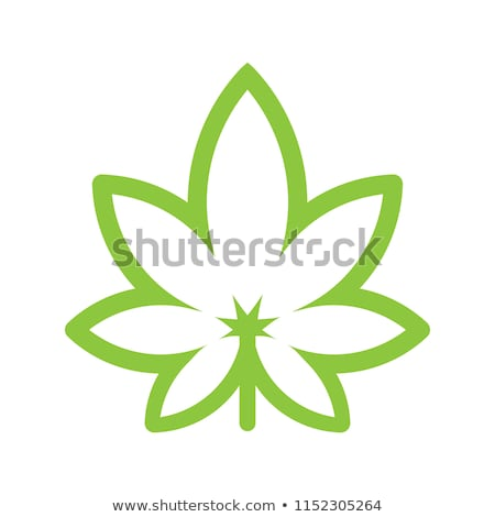 Marihuána levél izolált fehér szimbólum alternatív Stock fotó © Lightsource