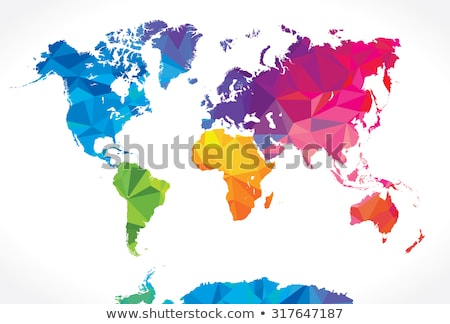 abstract colorful world globes vector stock photo © burakowski