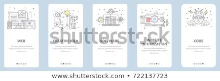 Homepage menu 3D internet tecnologia rete Foto d'archivio © silense