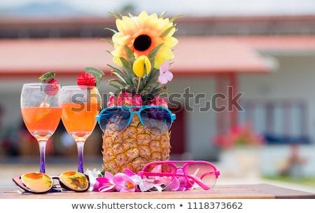 Hawaii · kız · dansçı · egzotik · gülümseme · yüz - stok fotoğraf © artisticco