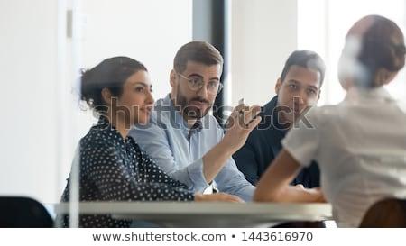 Stockfoto: Ernstig · werkgever · portret · peinzend · zakenman · pak