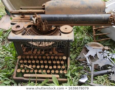 Donate Concept on Old Typewriter's Keys. Stock photo © tashatuvango