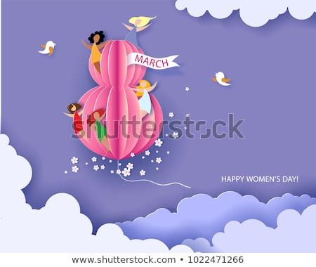 celebração · cartaz · menina · internacional · férias - foto stock © bharat