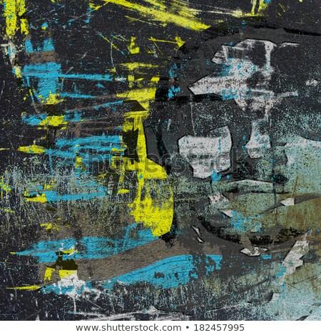 3D graffiti grunge muur verborgen hoofd Stockfoto © Melvin07