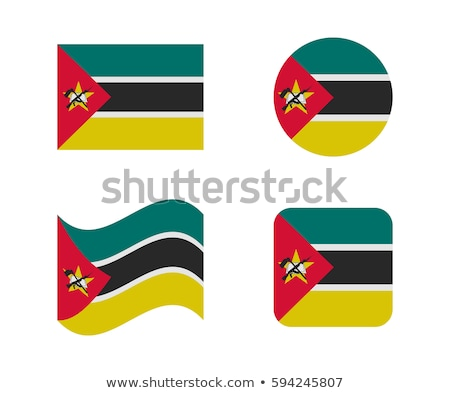 Moçambique bandeira ícone isolado branco fundo Foto stock © zeffss