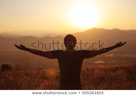Man with wide open arms Stock photo © erierika