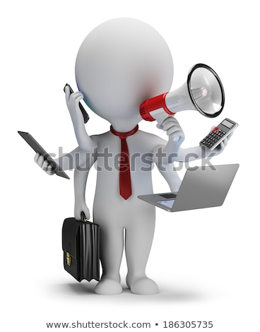 3d small people - multi manager Stock photo © AnatolyM