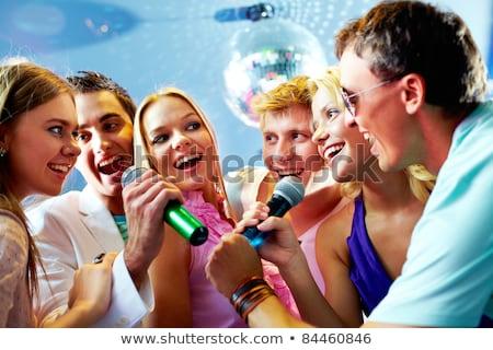 Man zingen lied gezicht mode Stockfoto © Nejron
