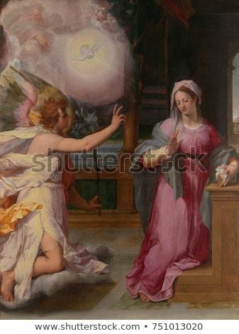 Dziewica religijnych scena antyczne drzwi Zdjęcia stock © sirylok