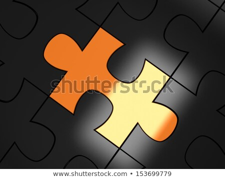 Nouvelle orange puzzle blanche étude Photo stock © tashatuvango