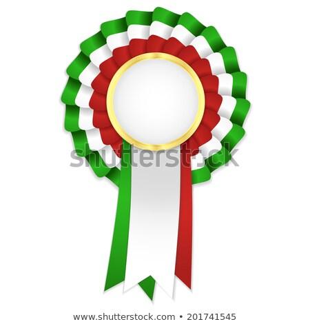 Tricolor złoty ramki zielone biały Zdjęcia stock © liliwhite