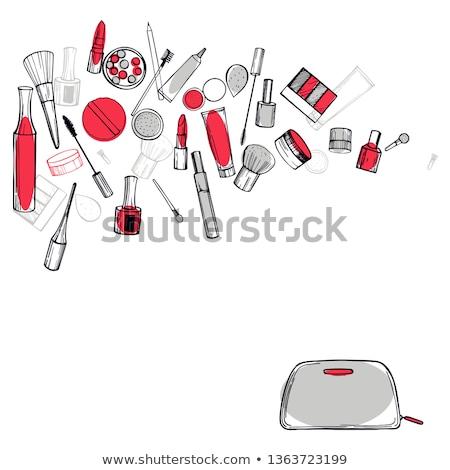 sketch powder compact stock photo © kali
