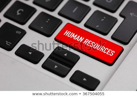 Human Resources on Red Keyboard Button. Stock photo © tashatuvango