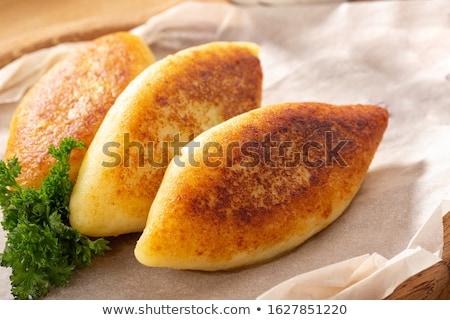 vegan · batata · jantar · prato · branco · refeição - foto stock © yelenayemchuk