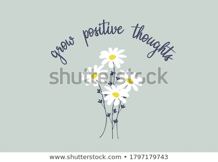 Stock photo: Decorative pattern with hearts and quote