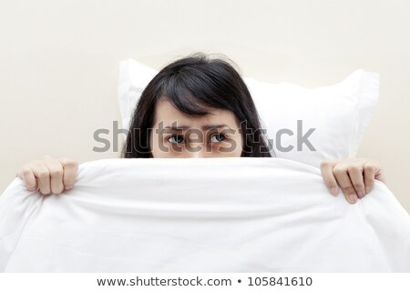 Young asian woman has nightmares Stock photo © Witthaya
