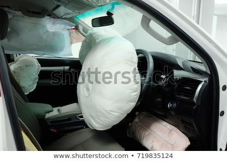 Airbag kierownica symbol samochodu prędkości Zdjęcia stock © olira
