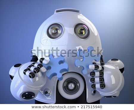 Robot joining puzzle. Technology concept. Containsclipping path Stock photo © Kirill_M