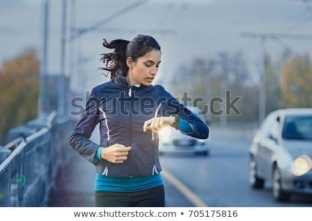 Fut szívdobbanás elektrokardiogram férfi szív alak sport Stock fotó © flipfine