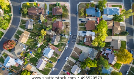 Colorado houses aerial view Stock photo © PixelsAway
