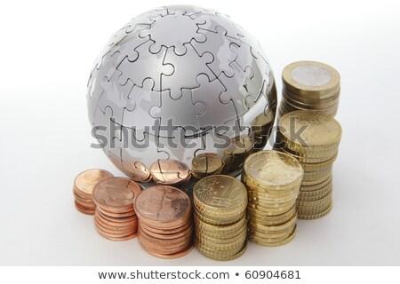 Euro érme fűrész 3D generált kép Stock fotó © flipfine