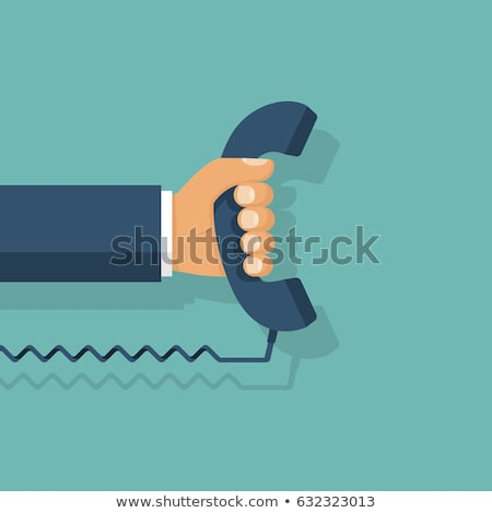 Vector telephone and phone receiver illustration Stock photo © Mr_Vector