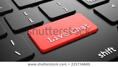 élet · chat · gomb · ikon · beszélget · online - stock fotó © tashatuvango
