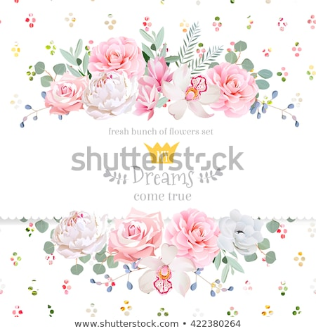 Save the date card. Watercolor rainbow. Stock photo © gladiolus