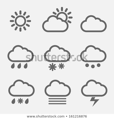 thunder cloud icon set stock photo © cteconsulting