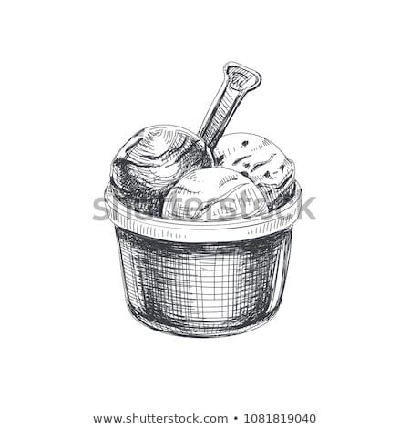 cool hand-drawn ice creams  Stock photo © oblachko