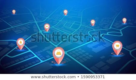 Hirdetés GPS tő absztrakt sziluett fény Stock fotó © vipervxw