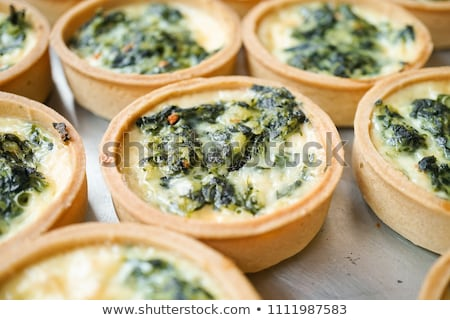 spenót · pite · finom · fetasajt · sütemény · hagyományos - stock fotó © m-studio