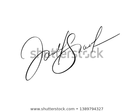 Signature image Nice bleu affaires papier Photo stock © magann