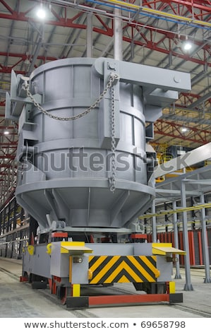 Steel buckets to transport the molten metal Stock photo © mady70