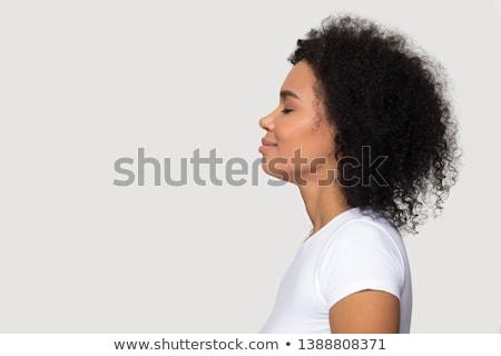 деловая женщина блондинка улыбаясь расслабляющая Председатель Сток-фото © Flareimage