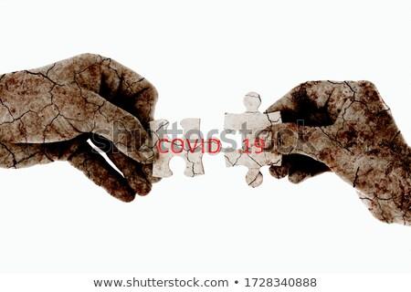 Guerra texto rojo blanco atención selectiva paz Foto stock © tashatuvango