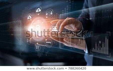 Adat átutalás háló biztonság technológia ötlet Stock fotó © robuart