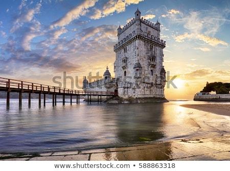 Rivier Lissabon Portugal beroemd 25 brug Stockfoto © joyr