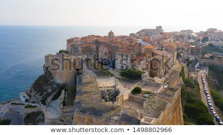 The town and citadel of Bonifacio in south Corsica Stock photo © Joningall